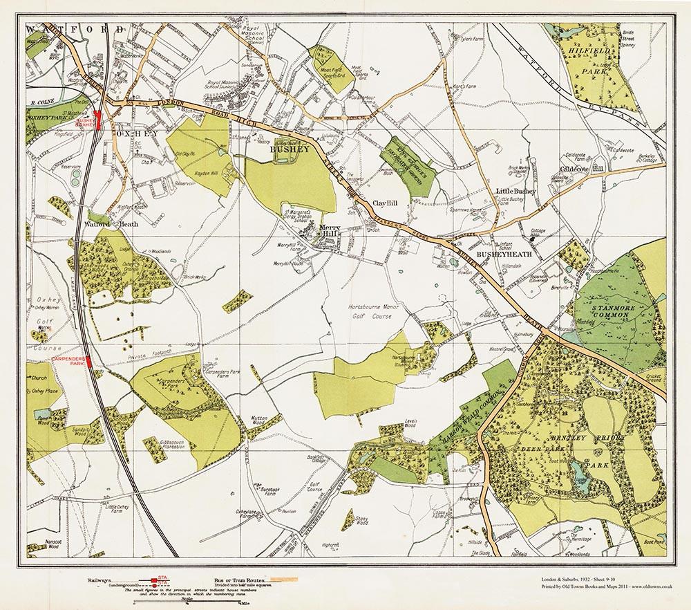 bushey-map